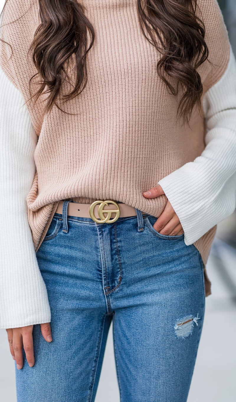 The Scarlett Belts, Black, Blush, or Taupe