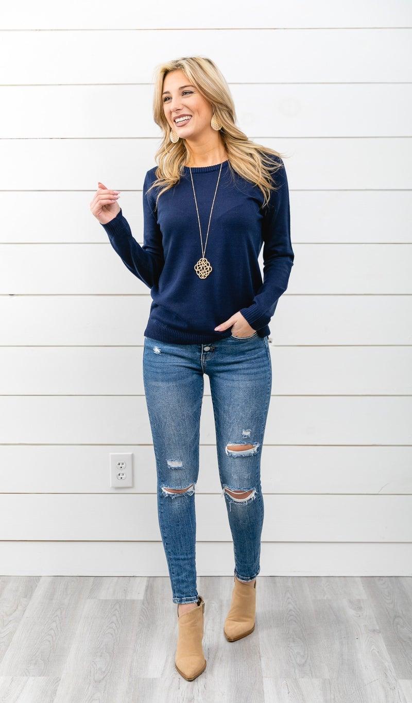 Malibu Sweater, Navy
