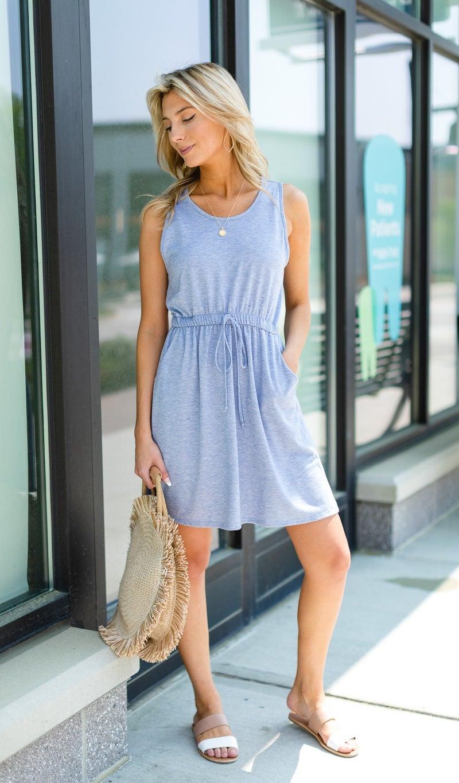 Beach Bliss Dress, Blue