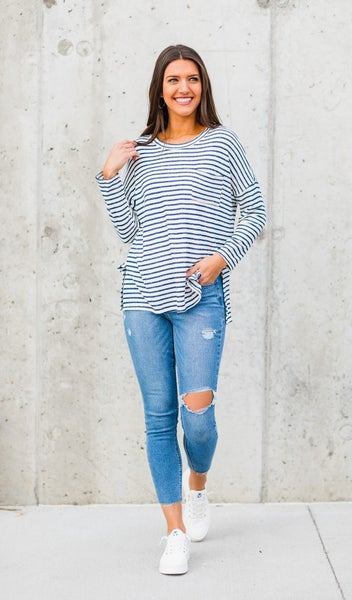 The One That I Want Top, Navy