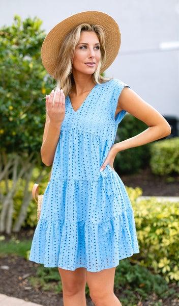 The Candace Dress, Blue