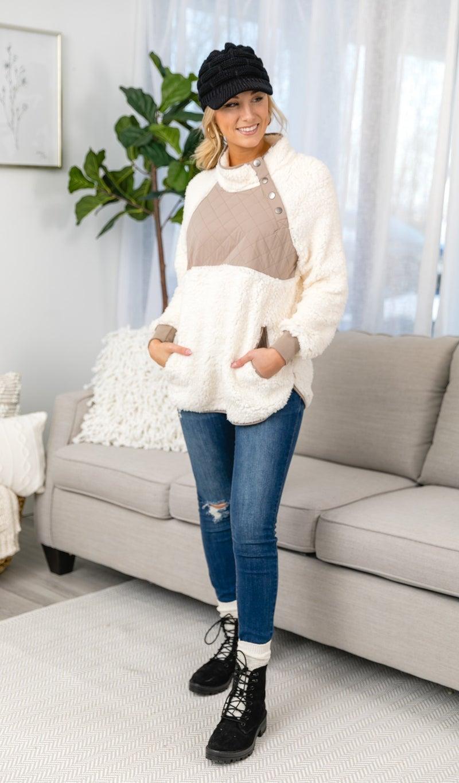 Wonderland Fleece, Cream Combo