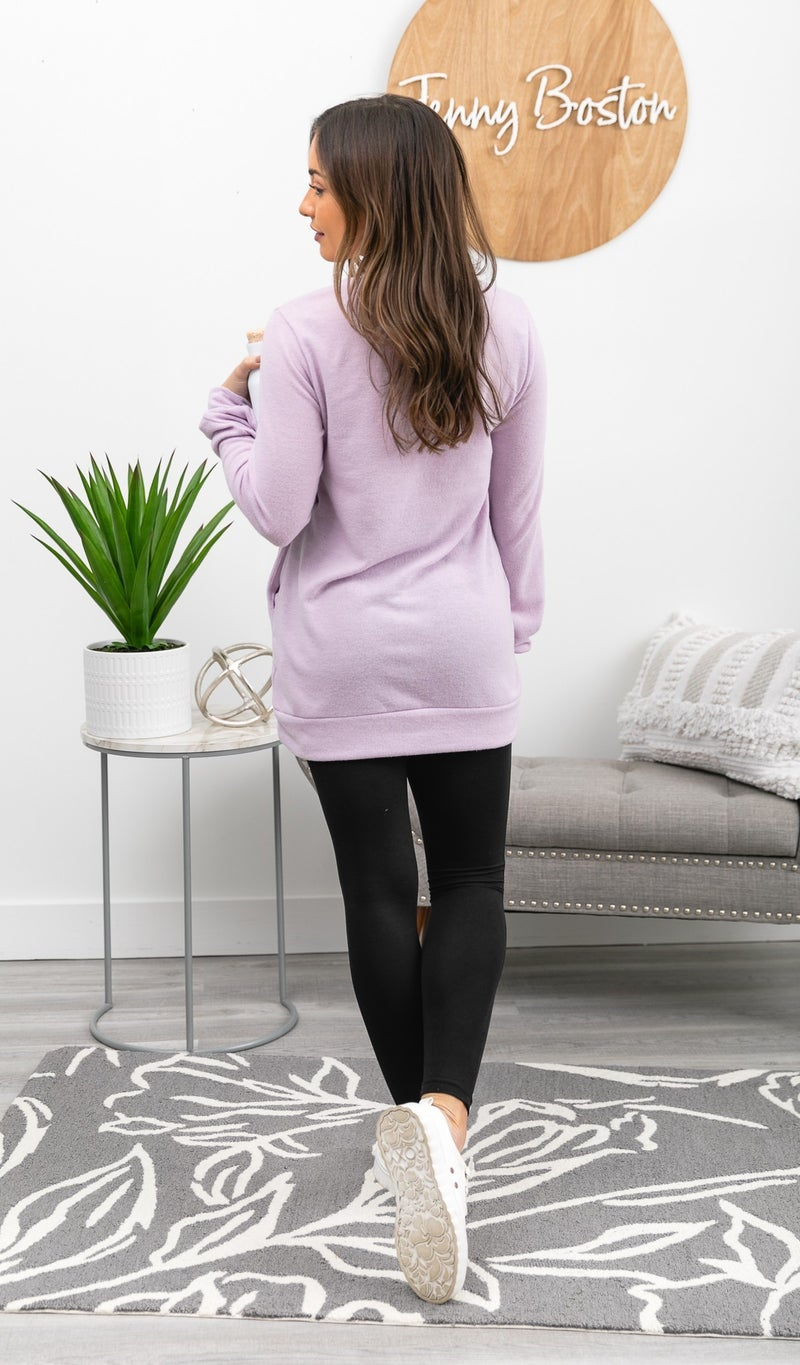 Frozen Tundra Tunic, Lilac or Blue