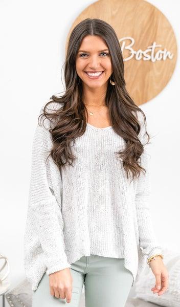 The Piper Sweater, White