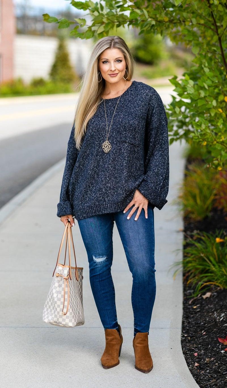 The Vanessa Sweater, Navy