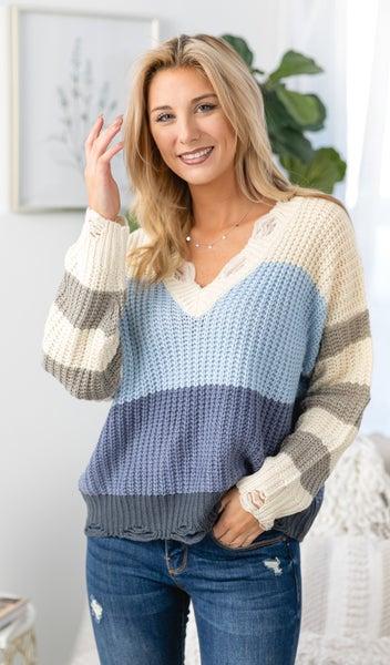 The Sienna Sweater, Sky