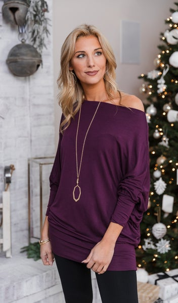 Gift Of Love Top, Eggplant