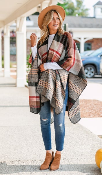 Made For You Wrap, Plaid