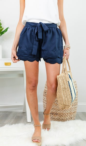 Now Is Your Chance Shorts, Navy