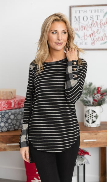 Holiday Love Tunic Top, Black *Final Sale*