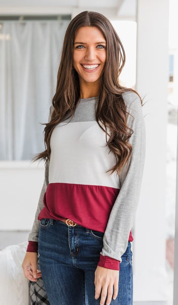 The Sia Top, Burgundy *Final Sale*