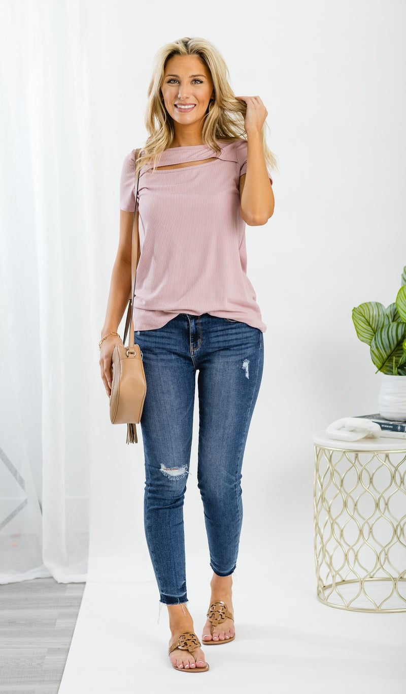 Caught Your Eye Tee, Mauve
