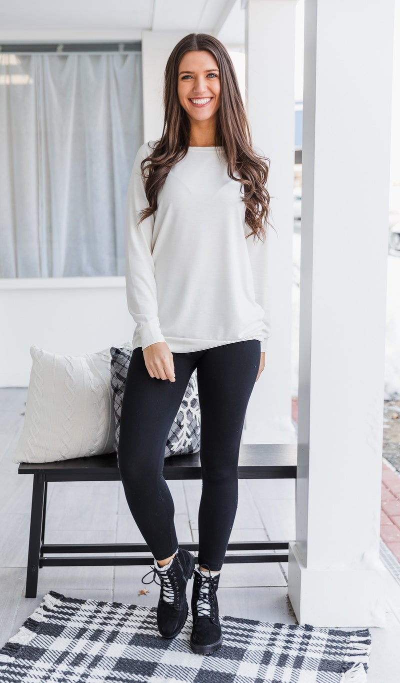 DOORBUSTER!!  Does It All Top, Ivory *Final Sale*