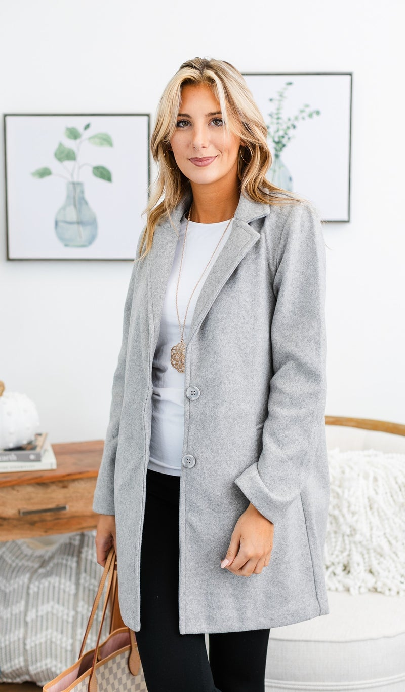 Classic Beauty Coat, Grey or Black