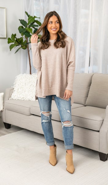 Promise Me Tunic, Taupe