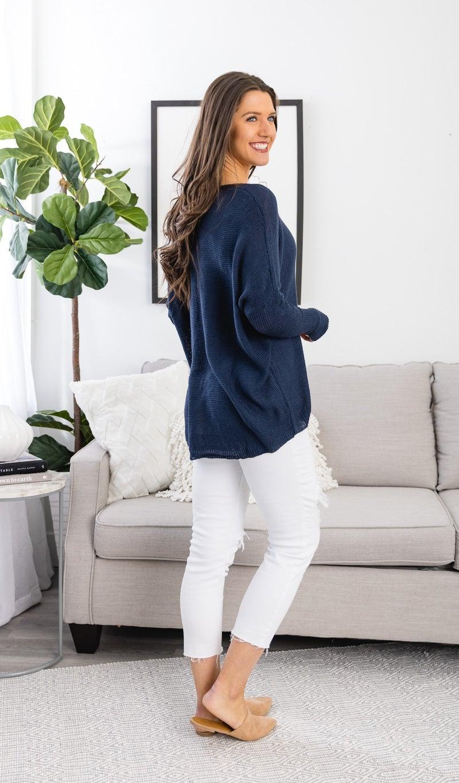 Simply the Best Lightweight Sweater, Navy
