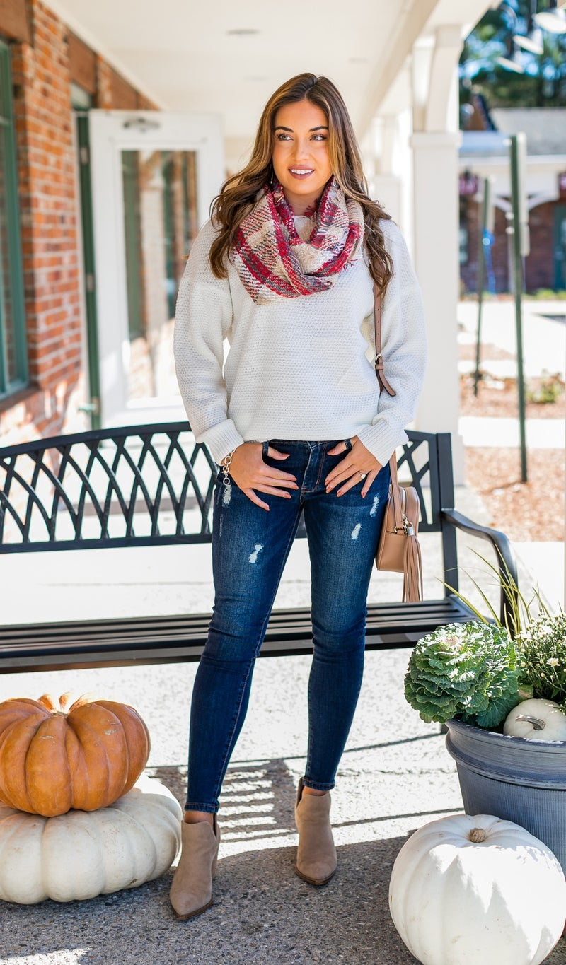 Never Enough Scarf, Pink or Beige