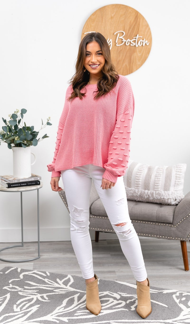 The Remi Sweater, Pink