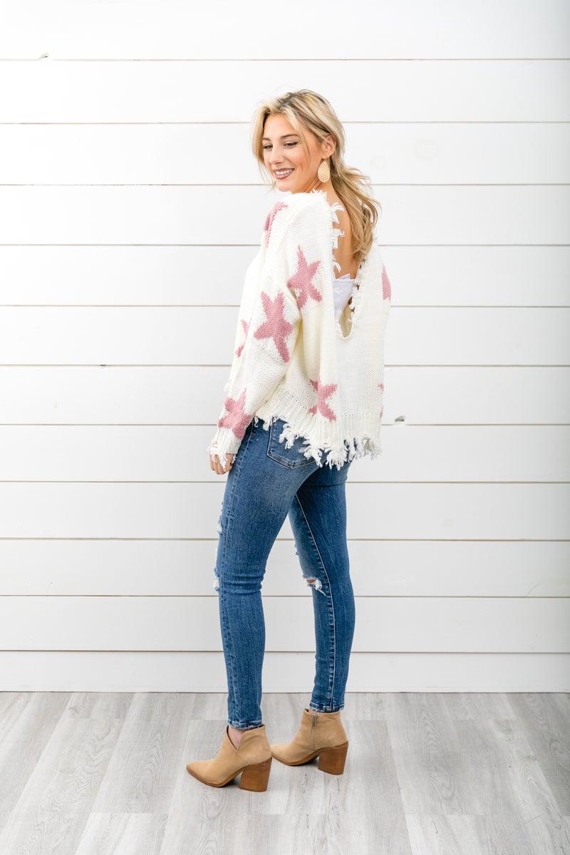 Star Struck Sweater, Ivory