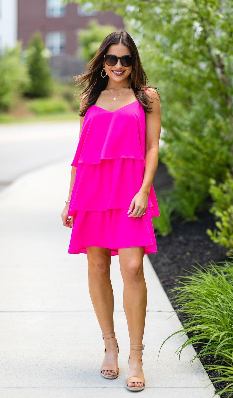 The Eva Dress, Fuchsia
