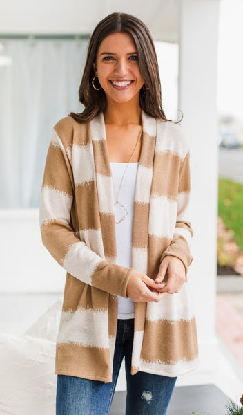 Bright & Light Cardigan, Oatmeal/Taupe