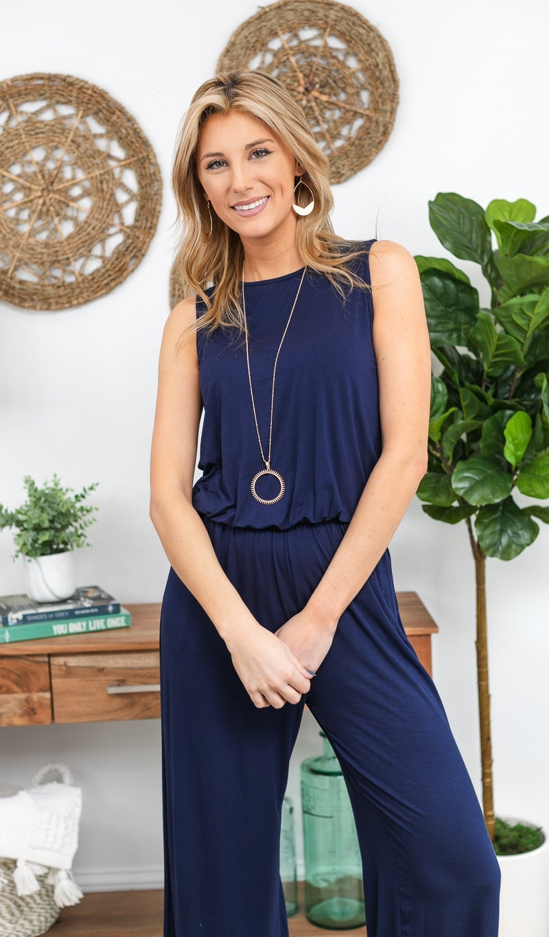 Be The One Jumpsuit,  Navy
