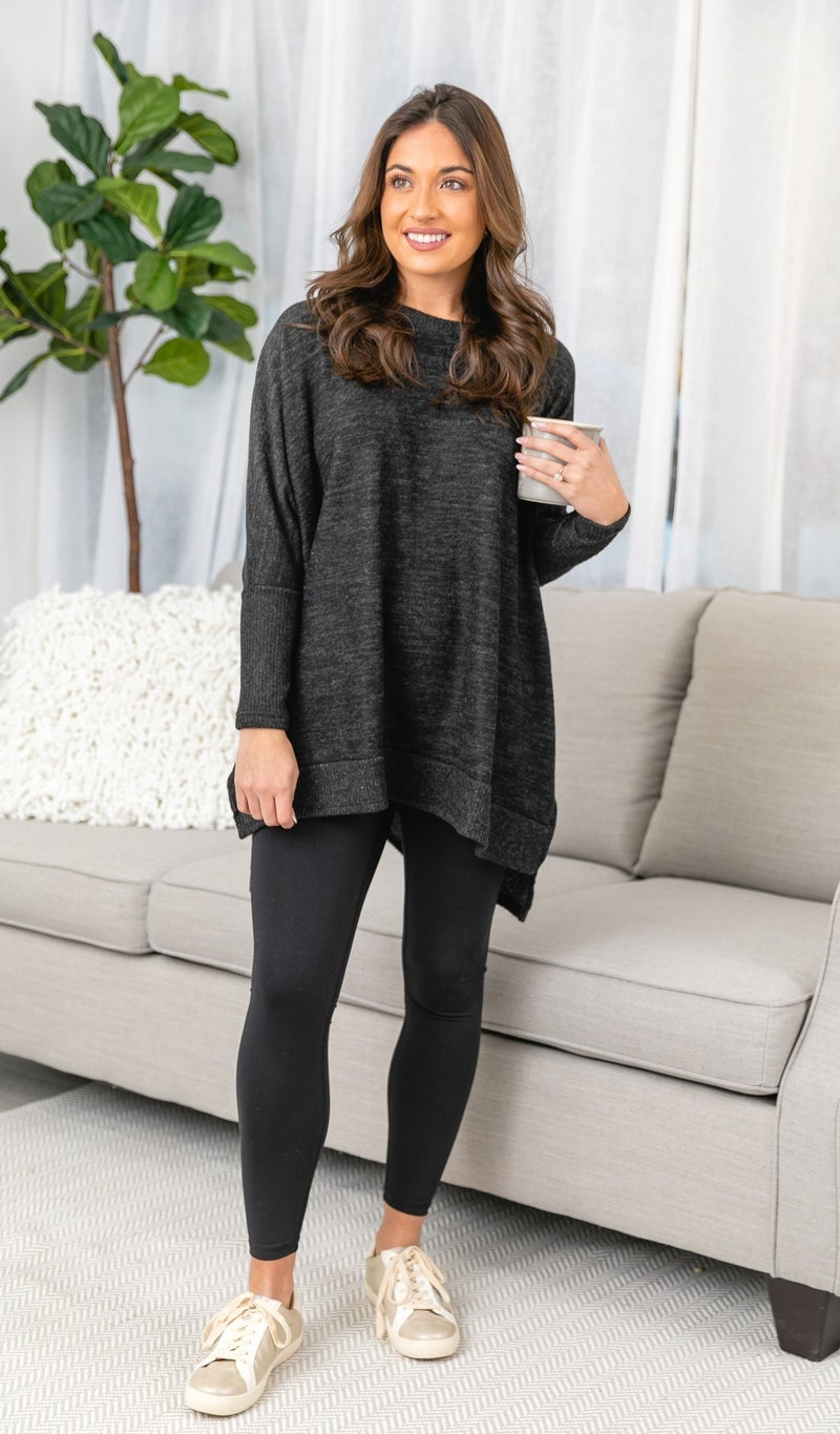 The Cassie Sweater, Charcoal