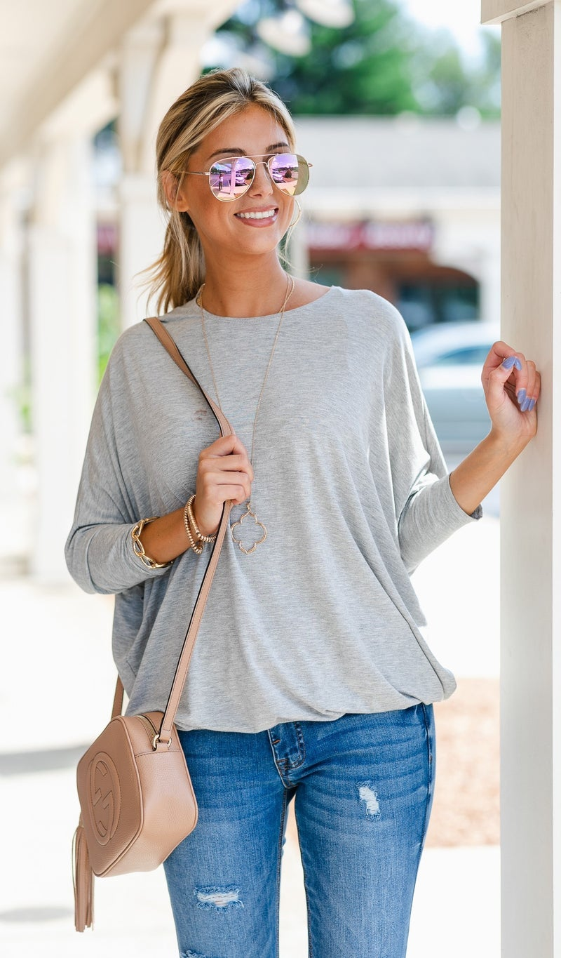 Never Basic Top-Black, Grey, or Charcoal