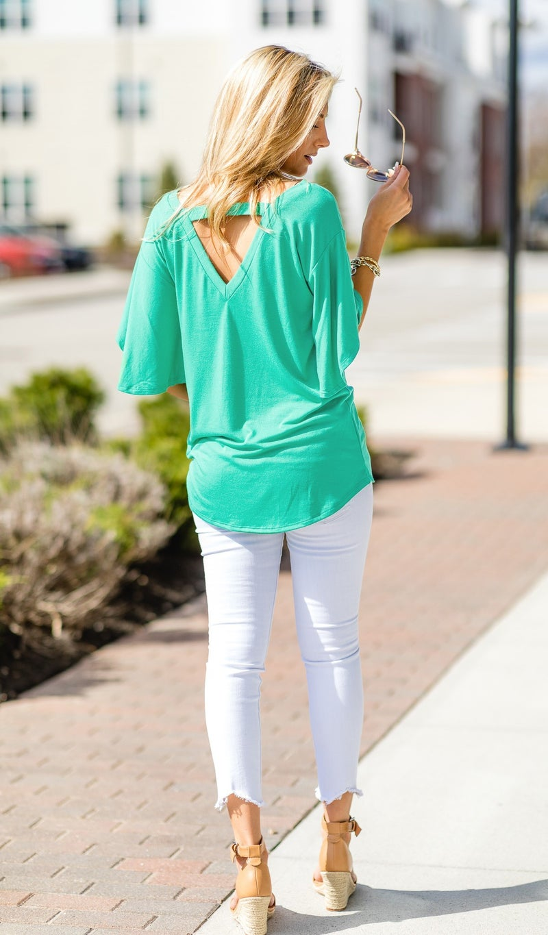 Simple Sights Top, Mint