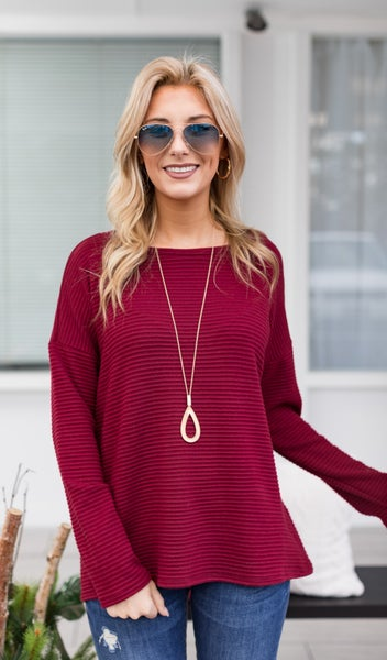 The Indy Top, Burgundy