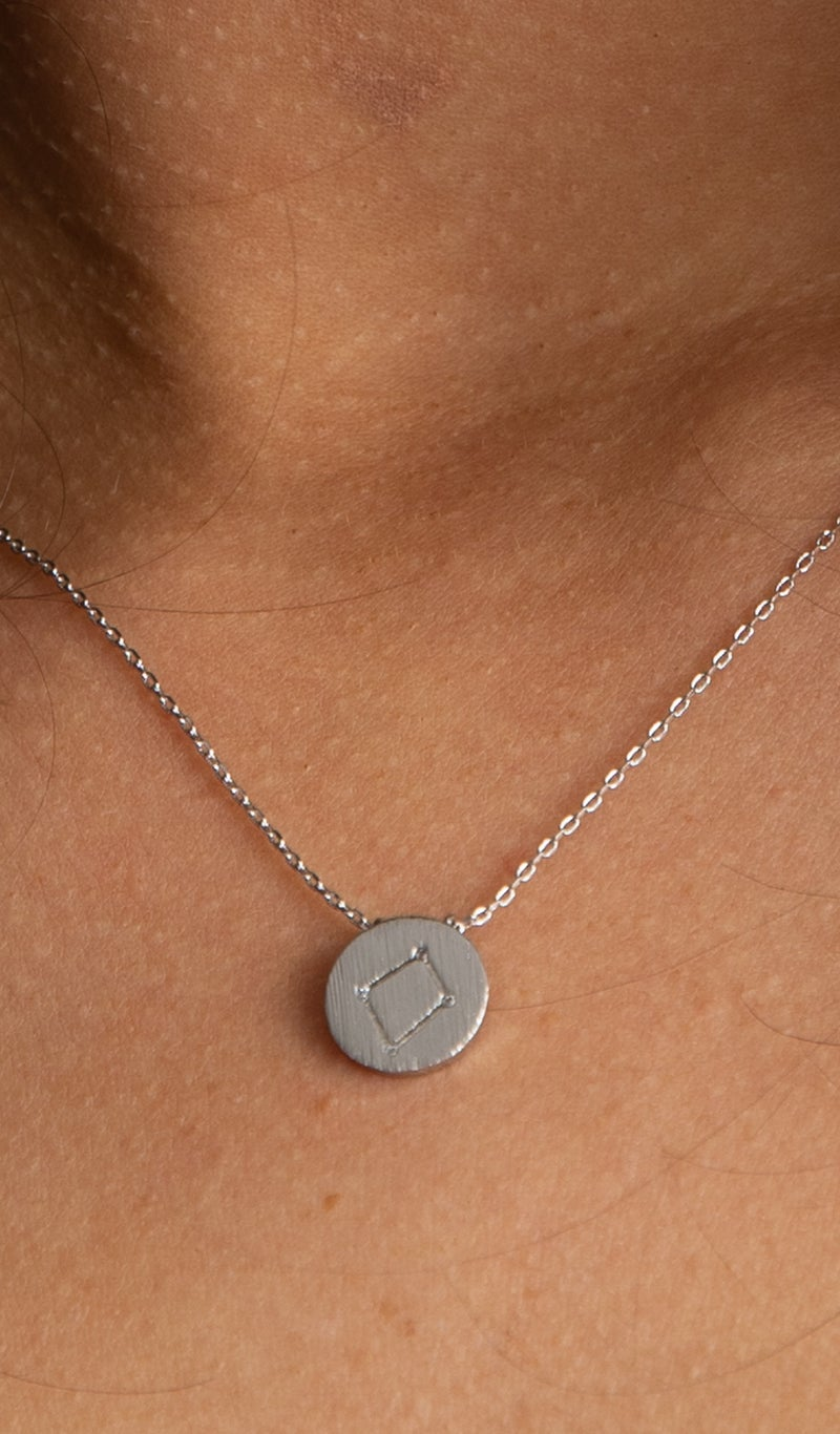 Zodiac Pendant Necklaces, Silver or Gold