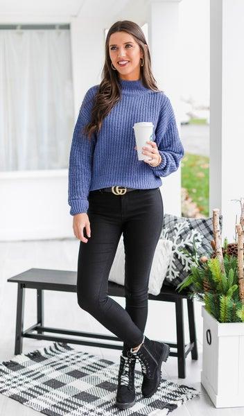 Feeling Pretty Sweater, Blush or Indigo