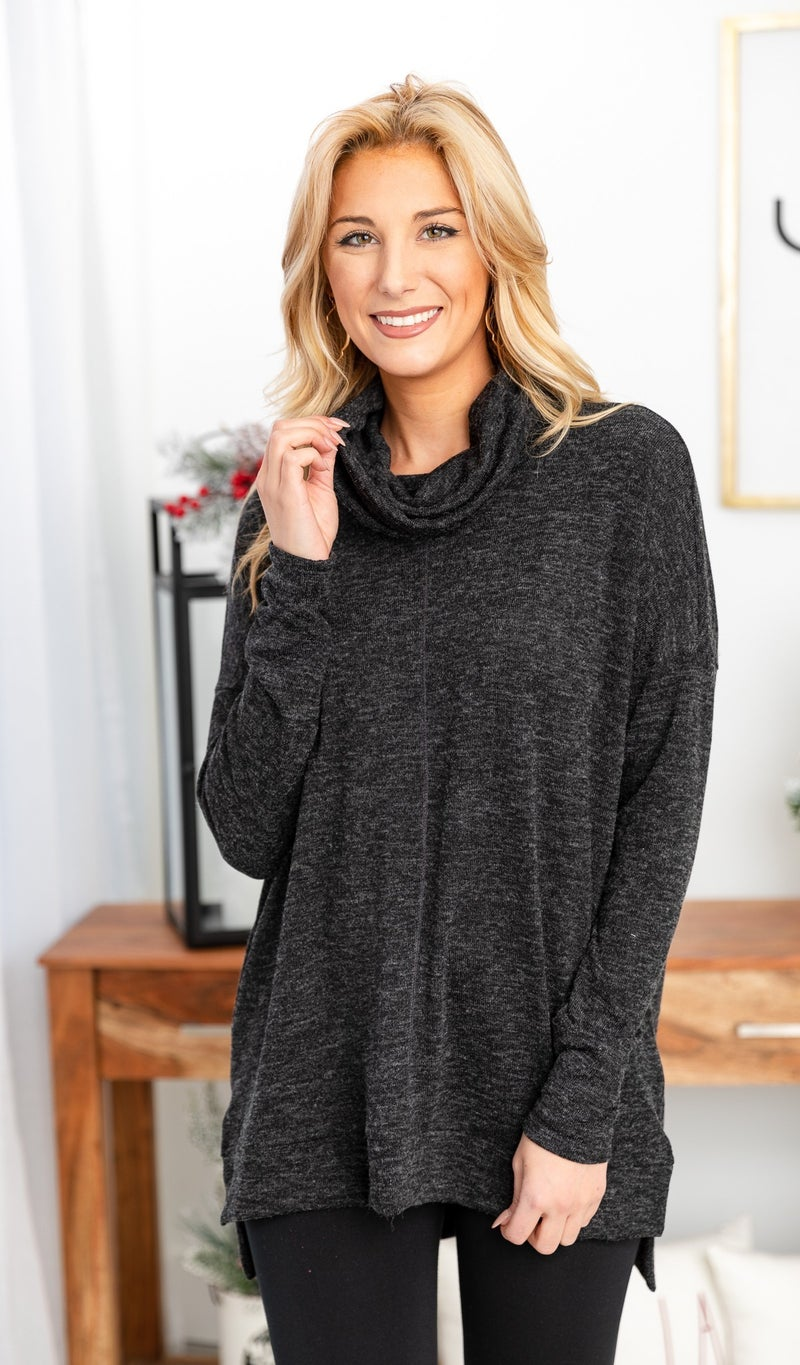 The Sadie Tunic, Black *Final Sale*