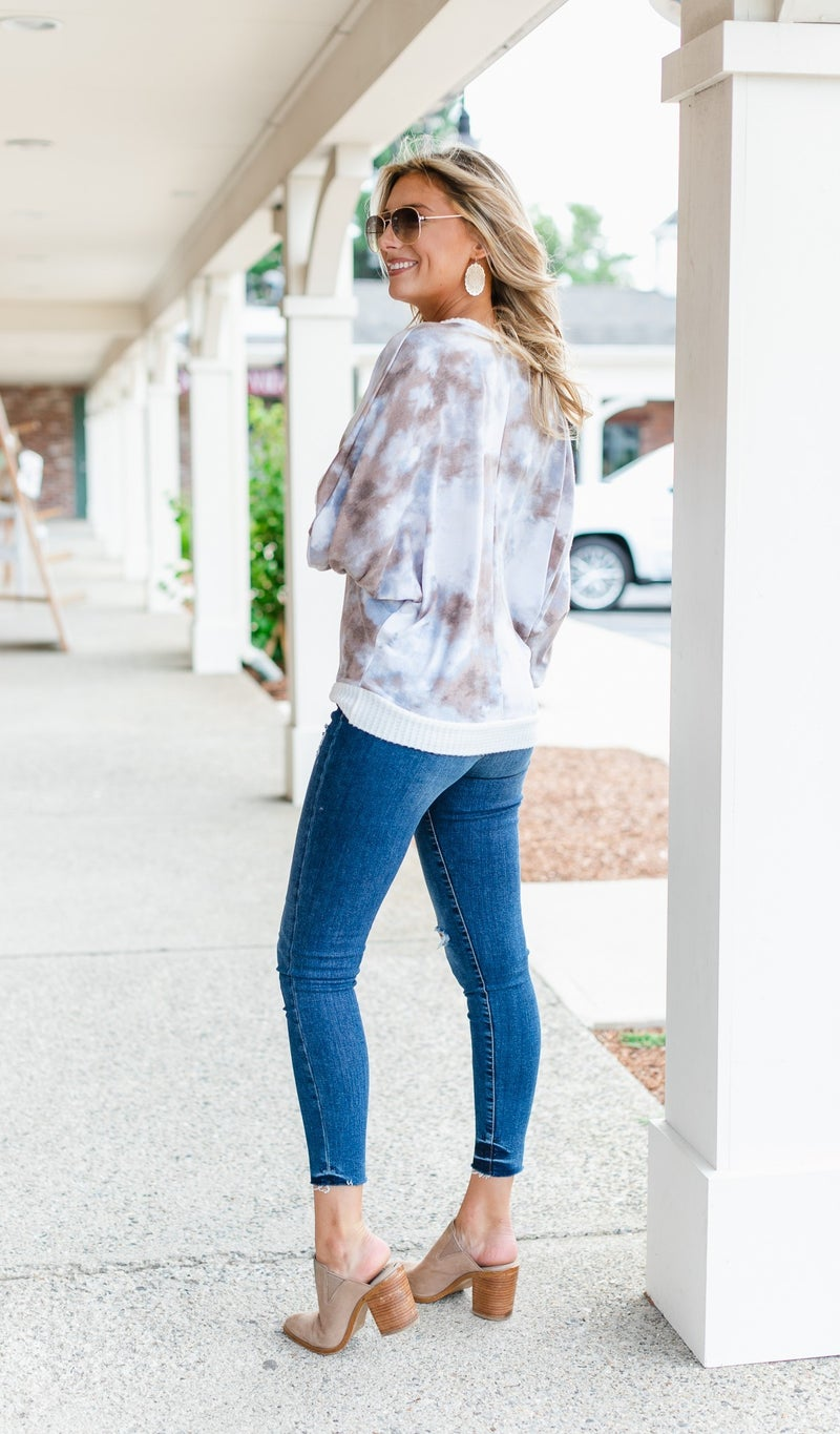 Cool As Can Be Top, Tie Dye Print