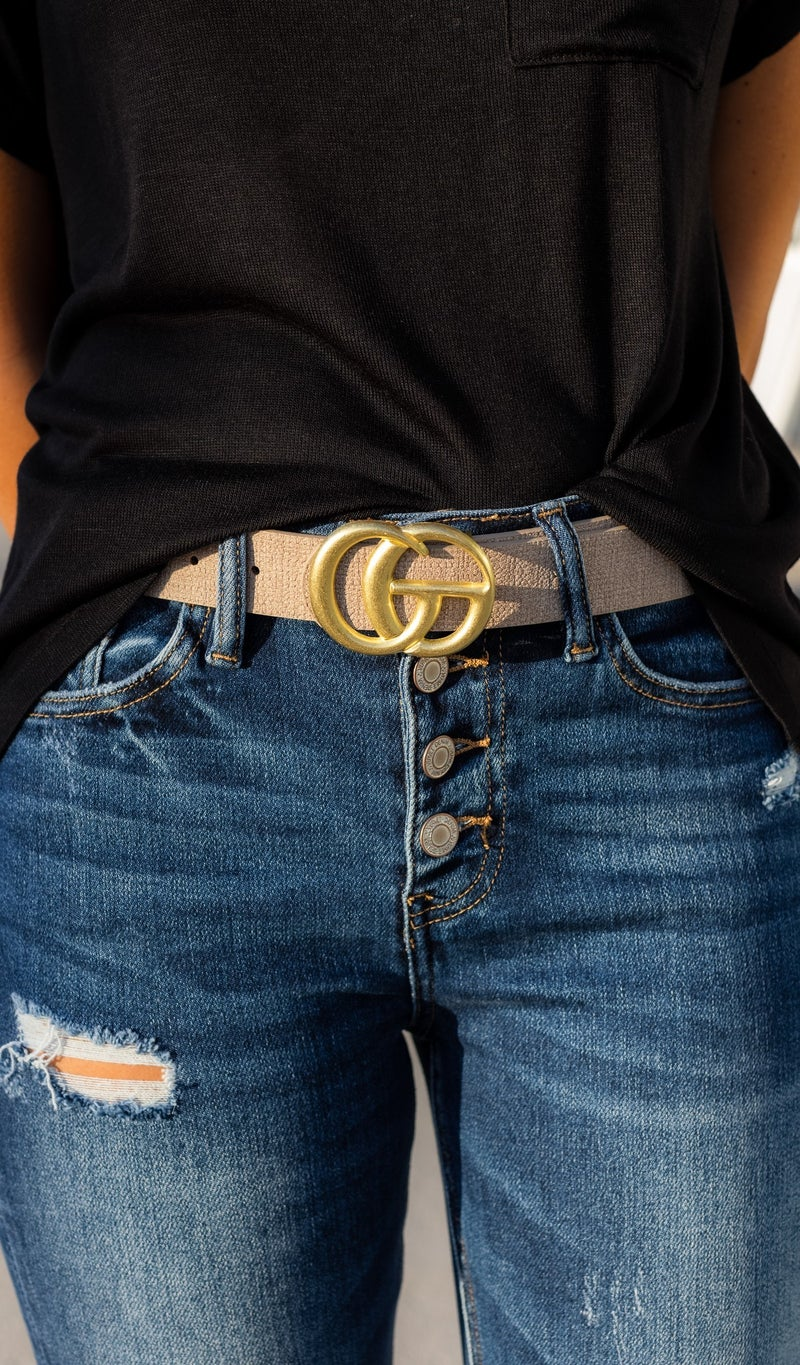 The Raquel Belt, Black, Blue, Khaki and Toast