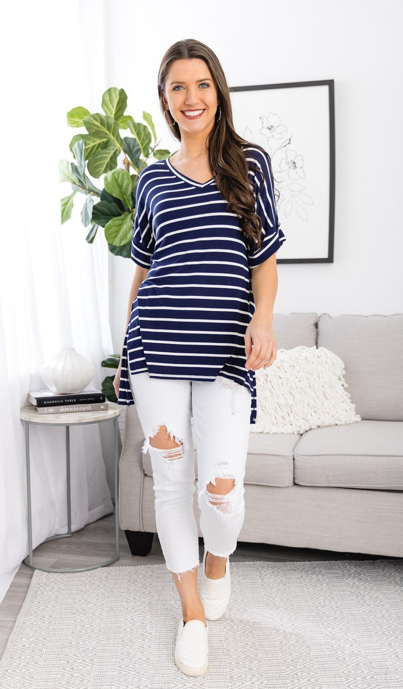 The Emmy Top, Navy