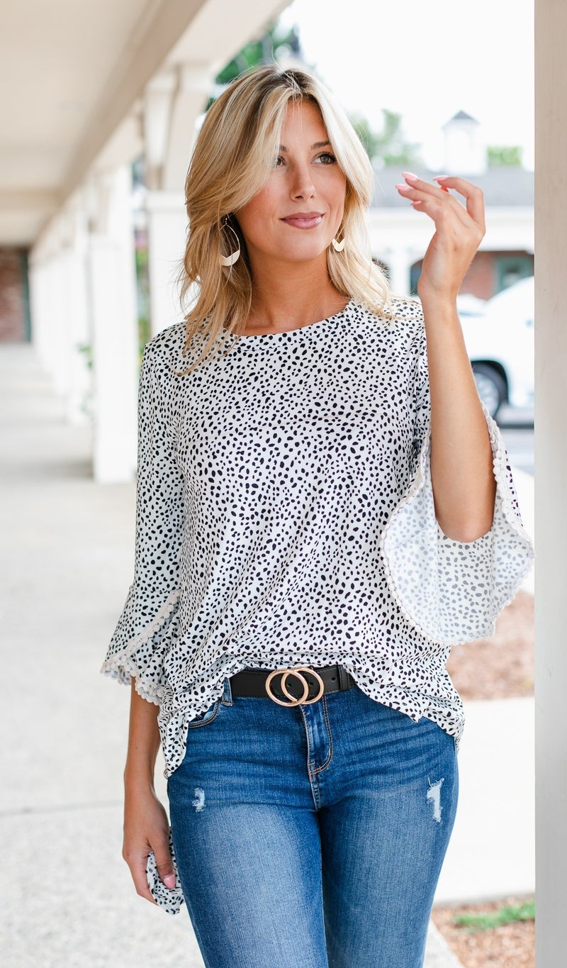 The Vicky Top, Black or Ivory