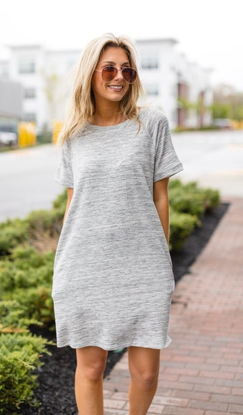 Chilling Out Dress, Grey