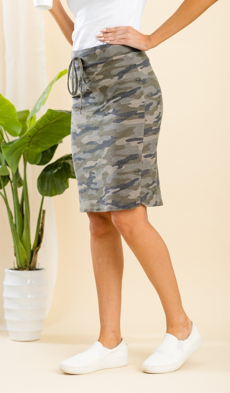 Slip Into Casual Skirt, Camo