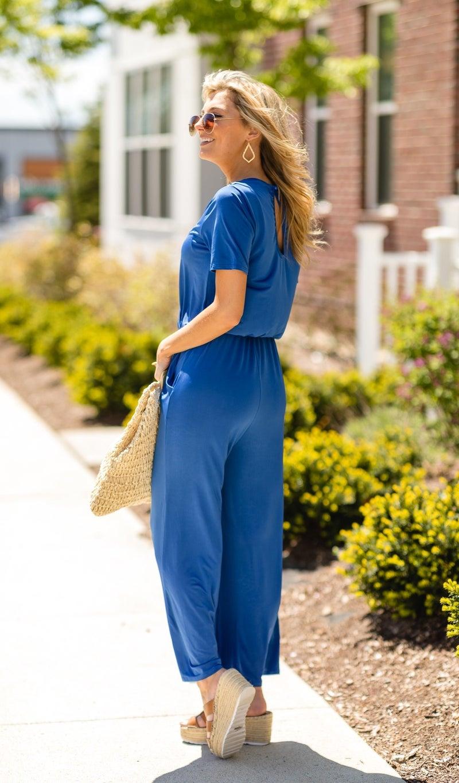 Chill Days Jumpsuit, Blue