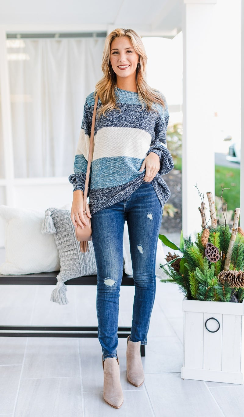 Feel The Wind Sweater, Blue