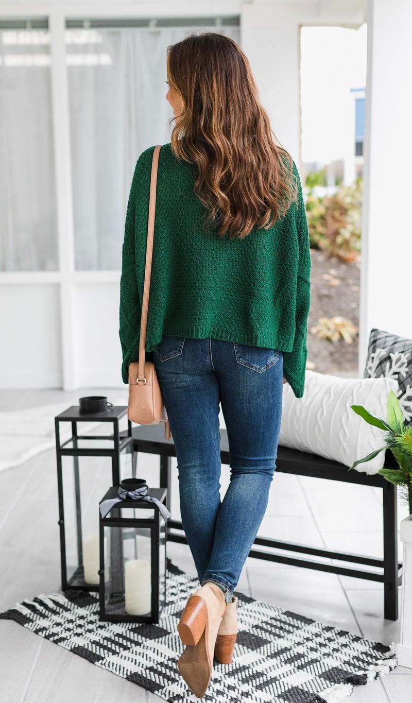 The Skyla Sweater, Hunter Green
