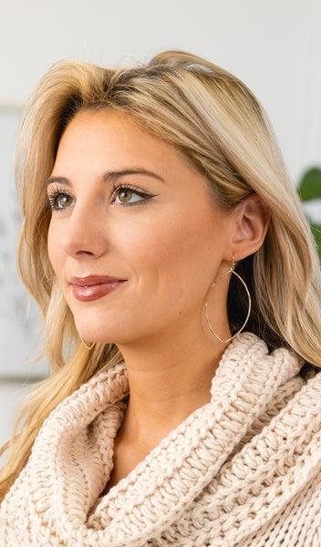 Keep It Simple Earrings, Gold or Silver
