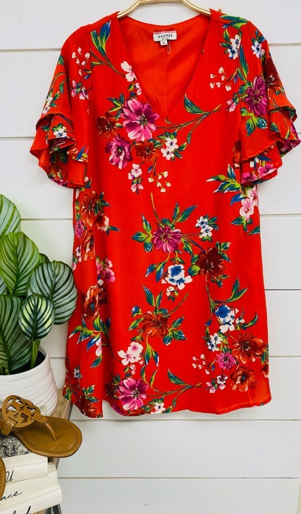Vacation Dream Dress, Red