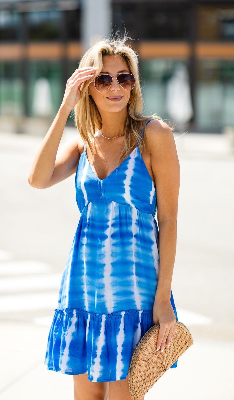 Summer Shade Dress, Blue