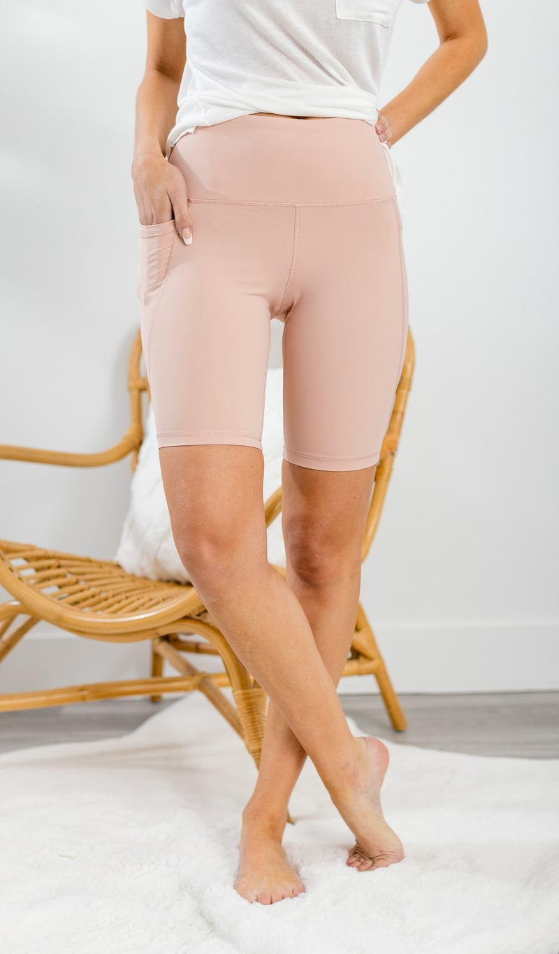 All You Need Biker Shorts, Blush, Grey, or Black