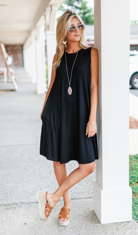 Make My Own Luck Dress, Black