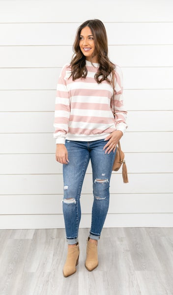 The Silvia Top, Pink
