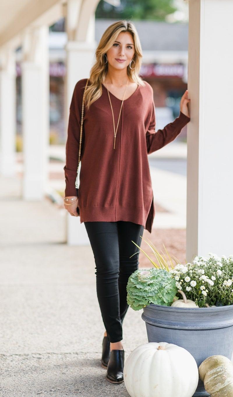 Brookside Sweater, Cinnamon or Oatmeal