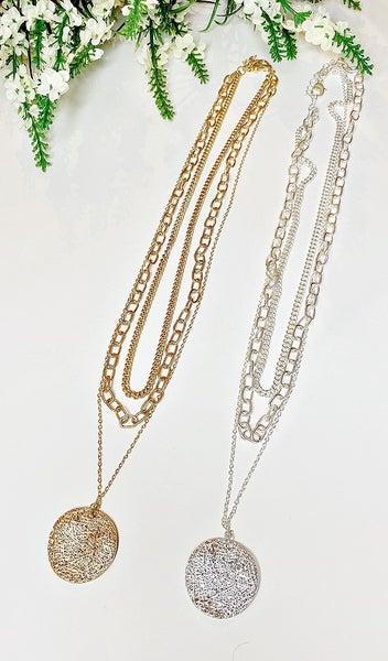 Peyton Triple Chain, Silver or Gold